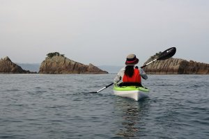 Kayaking to the Hashigui Rocks and see them close up is a great experience.