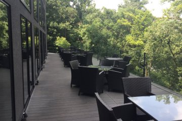 Outdoor seating perfect for hosting parties