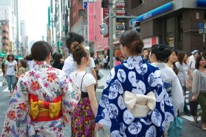 Yukata are a popular fashion for summer