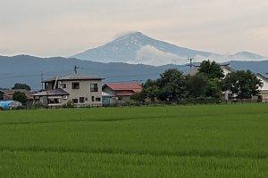 Mt. Chokai seen fron Yokote, Akita