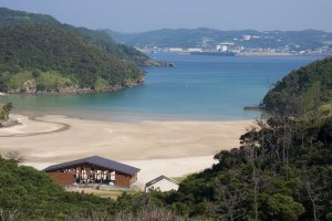 Tatsunoshima Beach at low tide