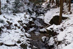 A small waterfall along the main trail