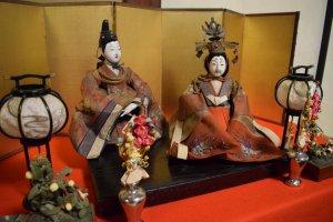 Hina dolls on display