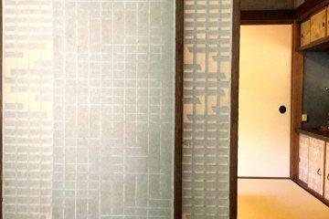 Delicate shoji in the window