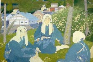 """Oharame"" (1927) by Tsuchida Bakusen will be on display"
