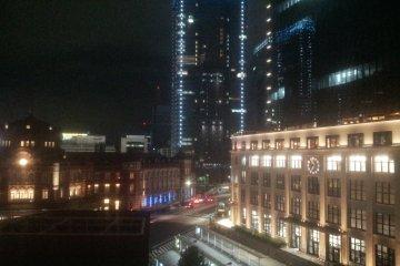 도쿄역 주변 야경