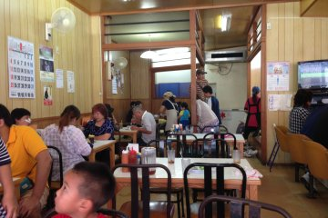<p>The Highway Drive In is dine in or take out only, there actually isn&#39;t a drive in window</p>
