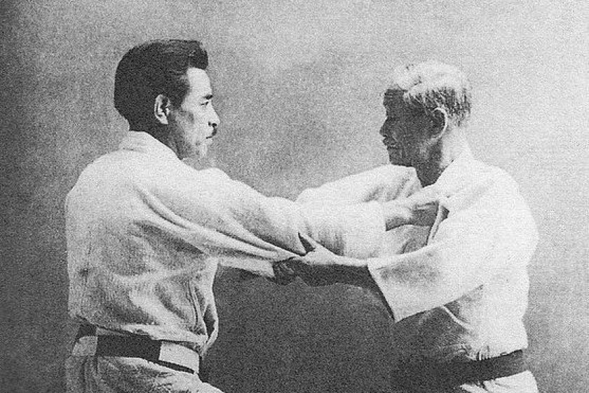 Kano Jigoro and Mifune Kyuzo in action