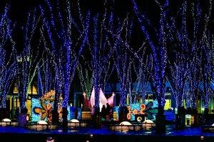 Winter illumination at the Keyaki Hiroba