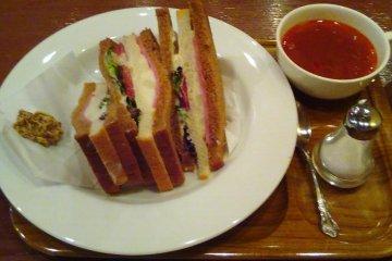 Light lunch at Kocha Romansho Shimano