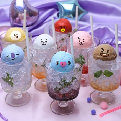 BT21 Glee Free Time Cafe