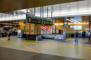 The station features nice and wide walkways and a spacious interior to assist customers in exiting or transferring