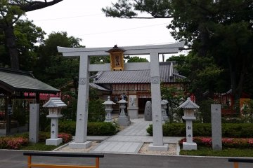 One of the smaller shrines that form part of the complex