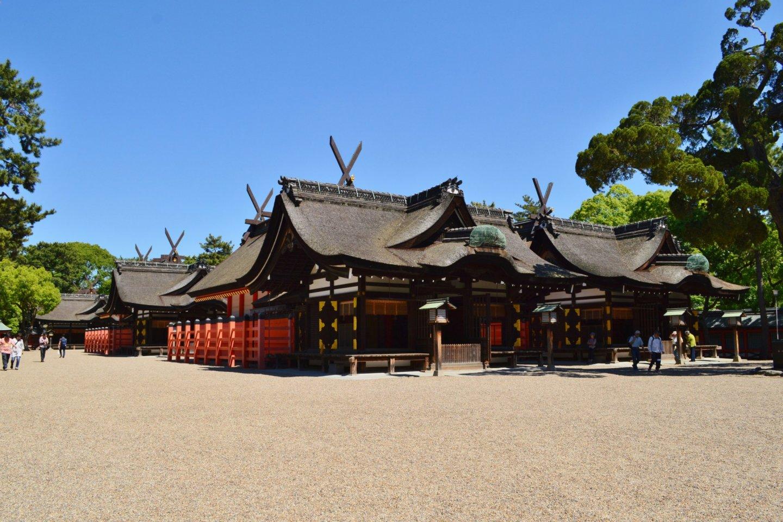 The four halls of Sumiyoshi Taisha