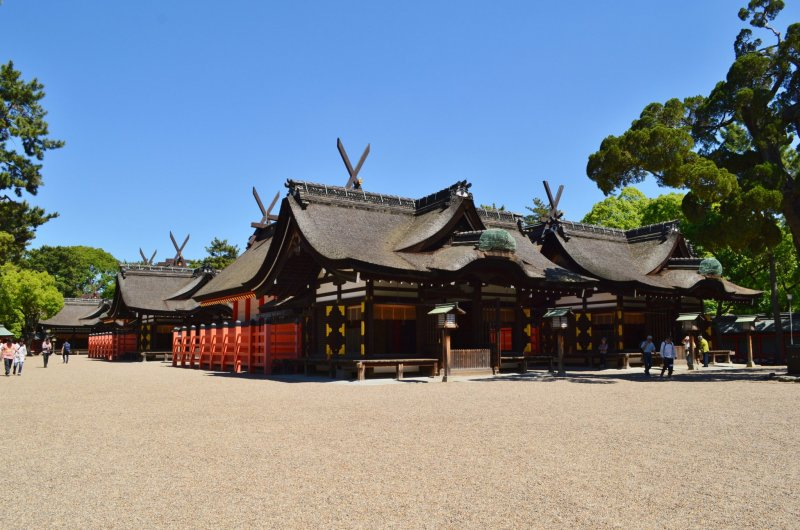 The four halls of Sumiyoshi Taisha