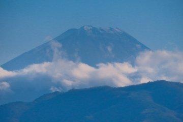 从甲府城遗址看富士山