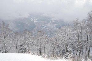 Beautiful winter landscape all around in Yuzawa.