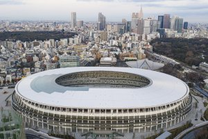 The Japan National Stadium was officially unveiled in December of 2019