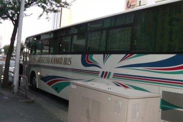 "A ""Standard"" bus after arrival in Nagoya"