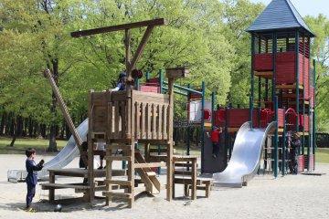 枥木县那须塩原市那须野原公园的免费游乐场