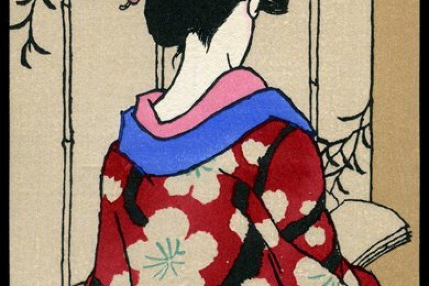 An example of Yumeji Takehisa\'s bijin-ga work