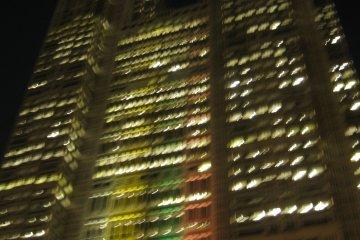 近距离看东京都厅大楼