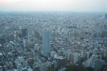在展望室观看到的东京景色