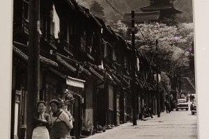 Street near Kiyomizudera temple in Kyoto in the 1960s