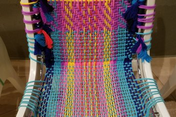 Colorful string chair design - it was surprisingly comfortable