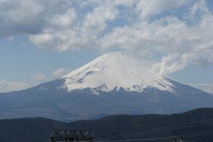 The view of Fuji-san from Owakudani Station