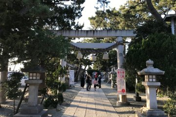 The path leading to the shrine