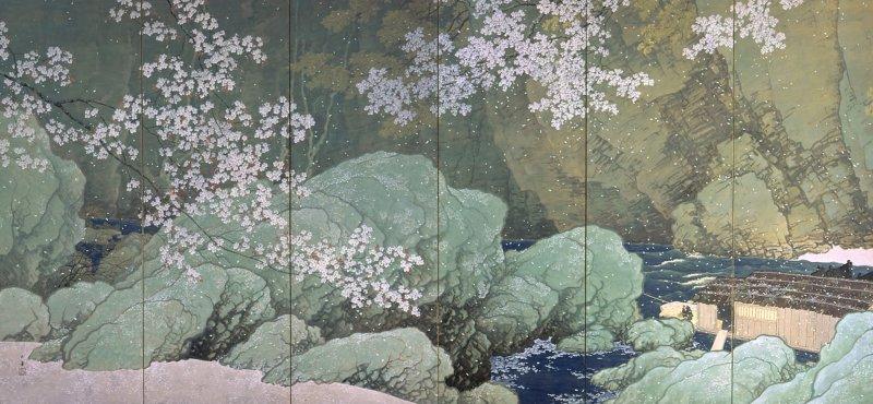 """Parting Spring"" - an example of Kawai Gyokudo's work"