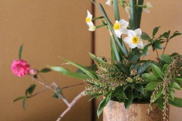<p>Ikebana in Yoshida house.</p>