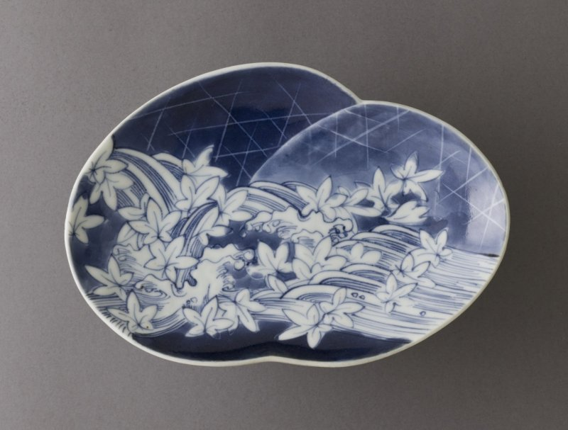An example of blue and white Arita porcelain