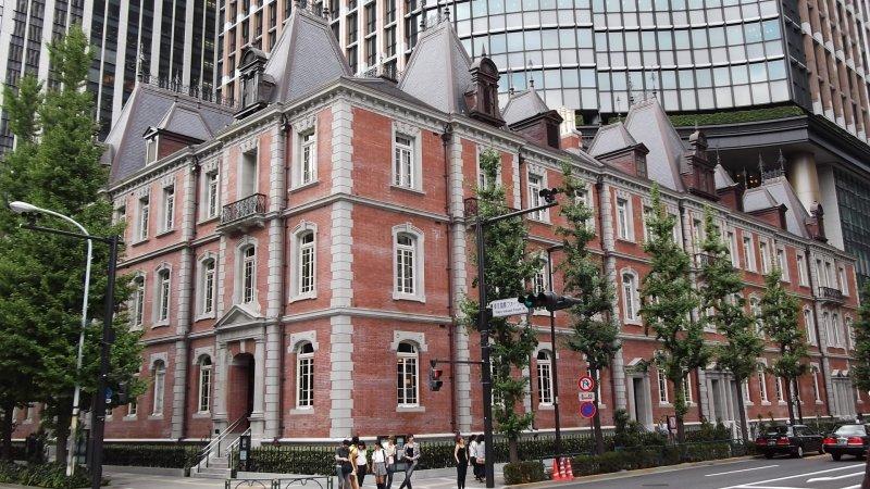 <p>The handsome redbrick facade</p>