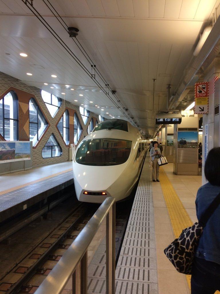 Romancecar express train from Shinjuku to Hakone