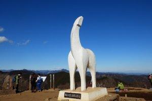 Horse statue on Mount Jinba