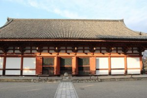 Kodo Hall in Toji, where Dainichi Nyorai is