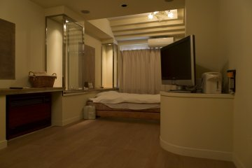 Spacious airy rooms are a feature of Hotel Cube Nara