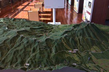 A 3D map of the surrounding area