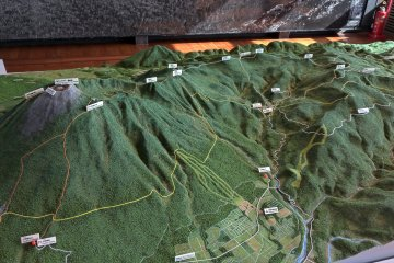 The Hachimantai side of the 3D map