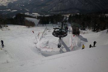 The top lift of Amihari ski area