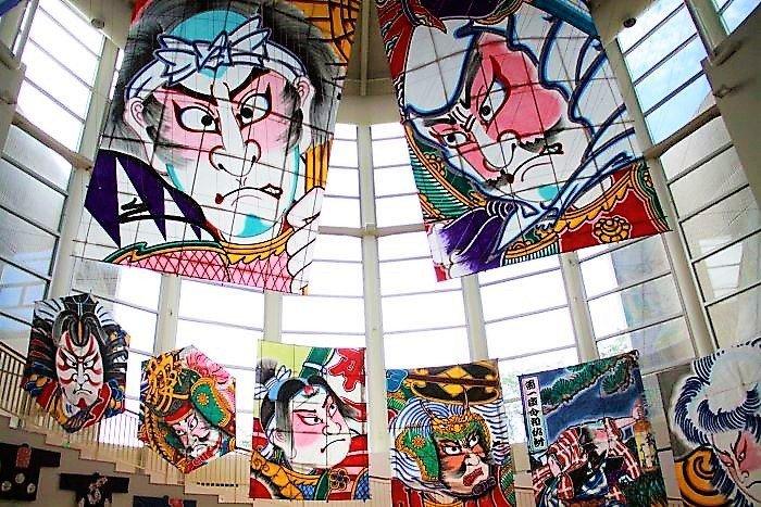 Some of the impressive kites on display