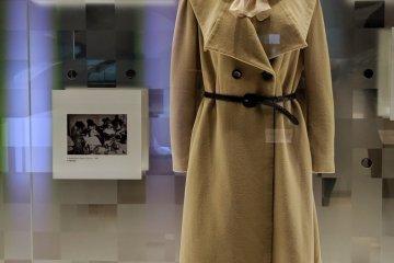 'Miss Shiseido' uniform displayed at Shiseido Global Innovation Center's museum