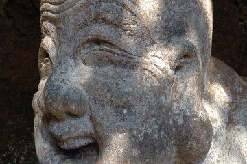 Hotei, god of contentment, at Jochi-ji