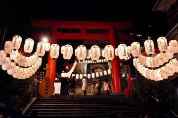 The vermillion torii gate at Enoshima Jinja