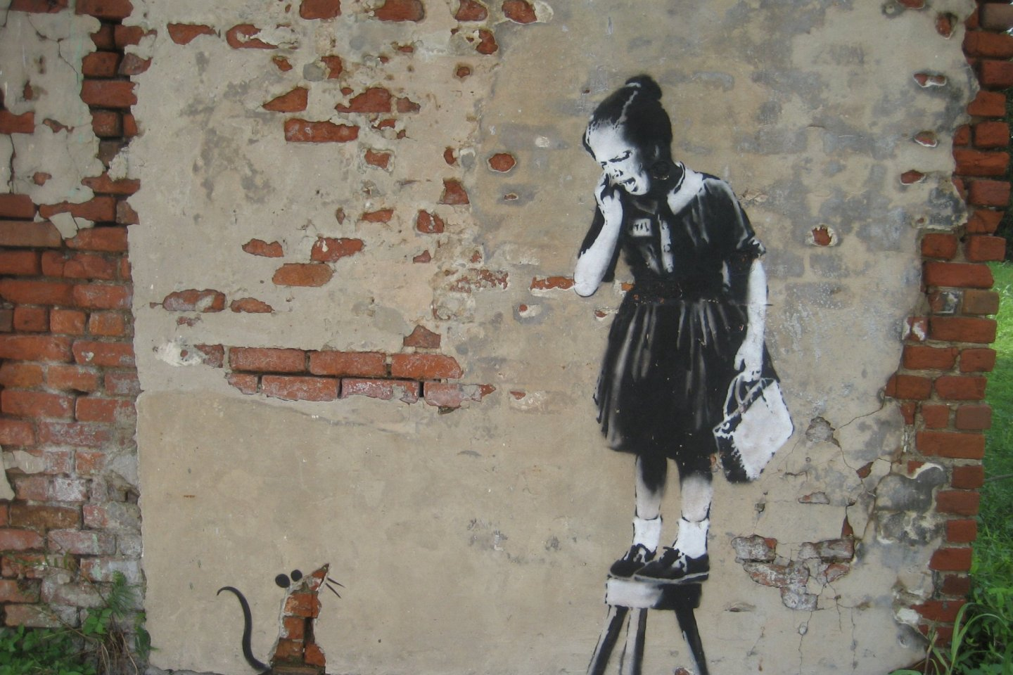 An example of Banksy\'s work