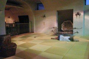 Tatami floored relax-room