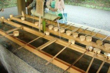 神宫里面的净水