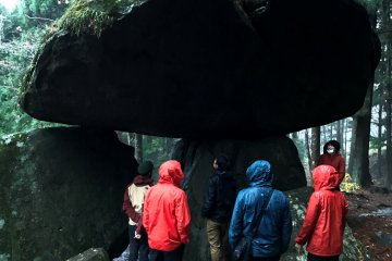 Go by bicycle to more mysterious rocks in the forest, but try to avoid rainy days..